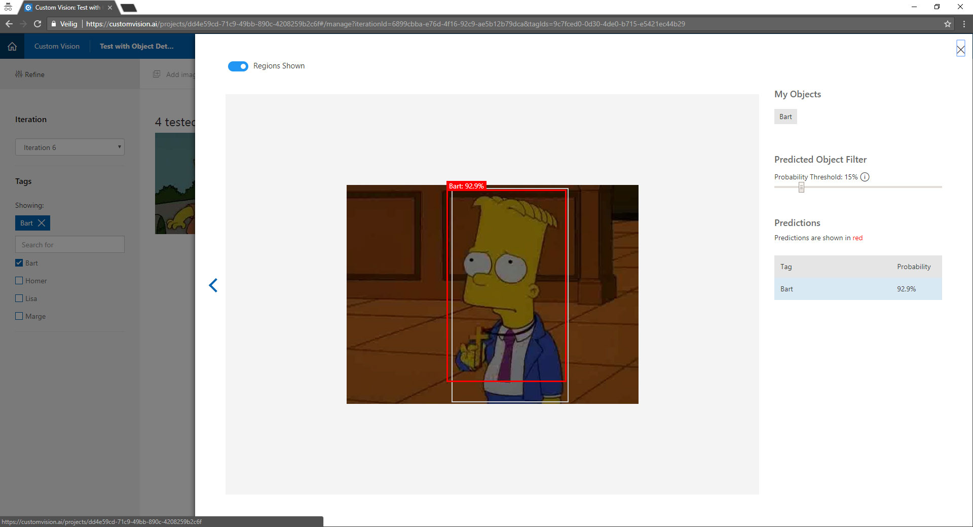 Object detection with Microsoft Custom Vision